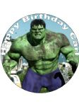 7.5 The Hulk Personalised Edible Icing or Wafer Paper Cake Top Topper